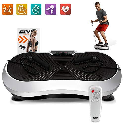 Hurtle Fitness Vibration Platform Workout Machine | Exercise Equipment For Home | Vibration Plate | Balance Your Weight Workout Equipment Includes, Remote Control & Balance Straps Included (HURVBTR30)