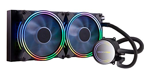 GOLDEN FIELD SF240 RGB All-in-One 240mm Liquid CPU Cooler Radiator Water Cooling Cooler System for Intel AMD