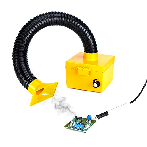 KOTTO Soldering Smoke Absorber, Electric Iron Welding Fume Extractor Soldering Smoke Absorber Remover DIY Fume Extractor Filter with Strong Suction