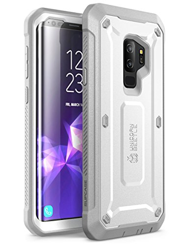 SUPCASE Unicorn Beetle Pro Series Case Designed for Samsung Galaxy S9+ Plus, with Built-In Screen Protector Full-body Rugged Holster Case for Galaxy S9+ Plus (2018 Release) (White)