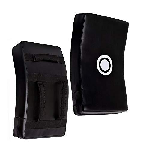 Jayefo Strike Shield Kick Pad Kick Boxing Curved Focus Boxing Muay Thai MMA UFC (Black Target)