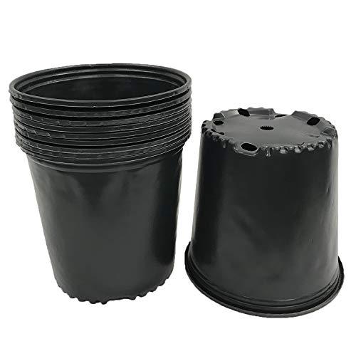 Viagrow 2 Gal. Plastic Nursery Pots (7.57 liters) 20-Pack