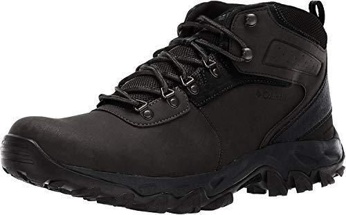 Columbia Men's Newton Ridge Plus II Waterproof Hiking Boot-Wide, black, black, 9.5 Regular US