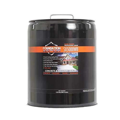 5-Gal. SX5000 WB DOT Approved Water Based Silane Siloxane Penetrating Concrete Sealer, Brick Sealer, and Paver Sealer