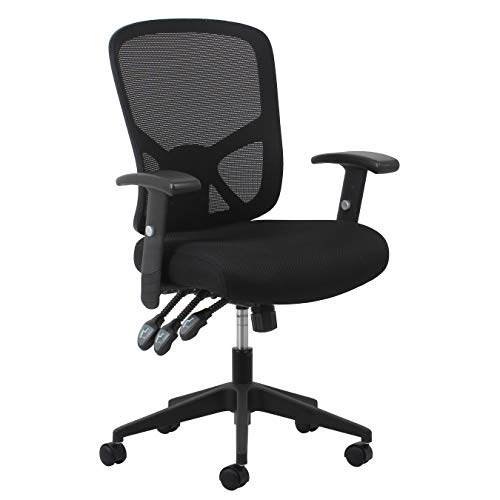 OFM Essentials Collection 3-Paddle Ergonomic Mesh High-Back Task Chair with Arms and Lumbar Support, in Black (ESS-3050)