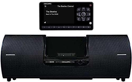 SiriusXM SXSD2 Portable Speaker Dock Audio System & SiriusXM SXEZR1V1 Onyx EZR Satellite Radio with Vehicle Kit with Get 3 Free Months Service with Subscription (Bundle)