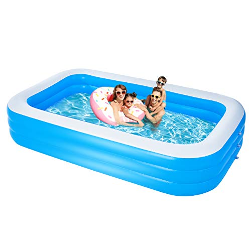 Inflatable Swimming Pools, Large Family Pool 120'X72'X24', Inflatable Pool For Kids and Adults, Thickened Resistant Inflatable Lounge Pool For Outdoor/Garden/Backyard/Outdoor Summer Water Party