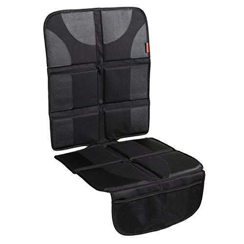 Lusso Gear Car Seat Protector with Thickest Padding - Featuring XL Size (Best Coverage Available), Durable, Waterproof 600D Fabric, PVC Leather Reinforced Corners & 2 Large Pockets for Handy Storage