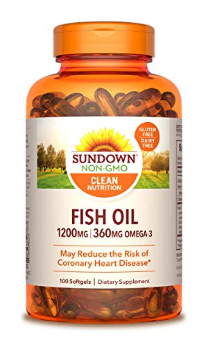 Sundown Fish Oil Extra Strength 1200 mg, 100 Softgels (Packaging May Vary)