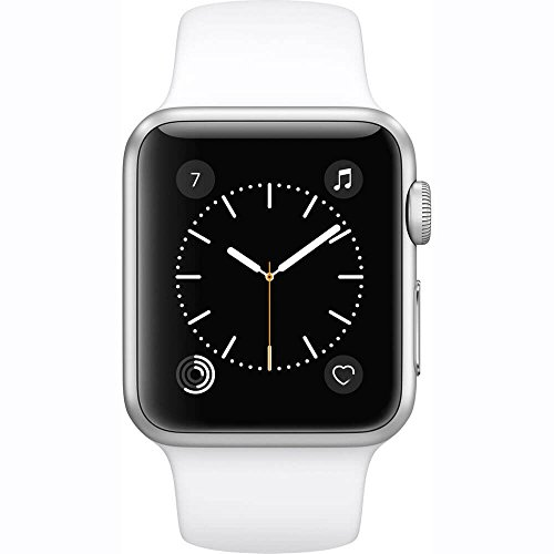Apple Watch Series 3 (GPS, 42MM) - Silver Aluminum Case with White Sport Band (Renewed)