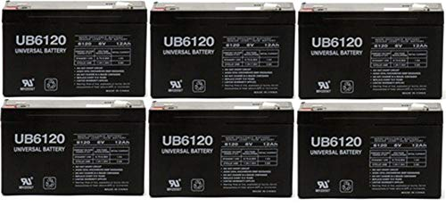 Universal Power Group UB6120 6V 12AH Npx-50 SLA10-6 BP10-6 GP6120 ES12-6 Rechargeable Battery - 6 Pack