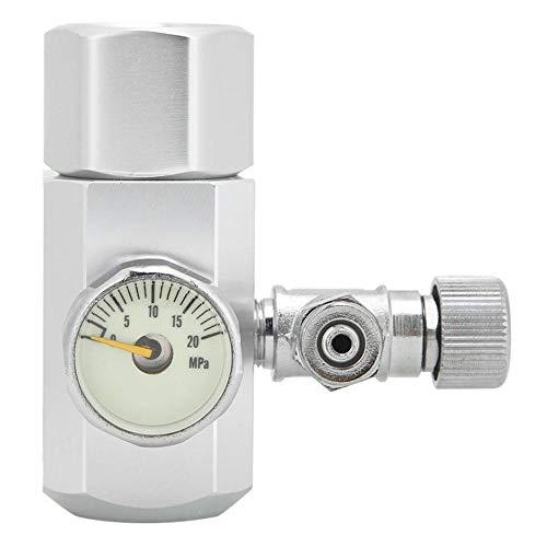 Aquarium CO2 Regulator Single Fish Tank CO2 Pressure Gauge Adjustable Pressure Aquatic Plant CO2 System (W21.8)