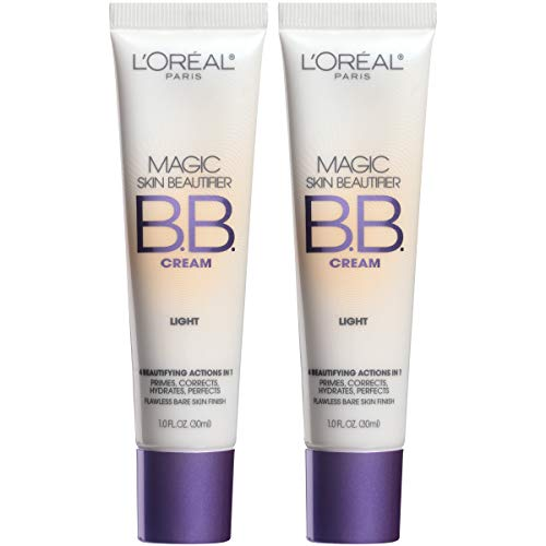 L'Oréal Paris Magic Skin Beautifier BB Cream, Light, 1 Ounce (2 Count)
