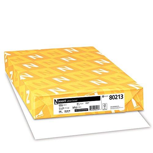 Exact Vellum Bristol, 11' x 17', 67 lb/145 gsm, White, 94 Brightness, 250 Sheets (80213)