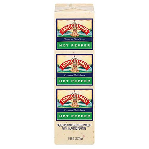 Land O Lakes Processed Premium Hot Pepper Cheese, 5 Pound -- 2 per case.