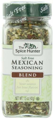 The Spice Hunter Mexican Seasoning Blend, Salt Free, 1.5-Ounce Jar