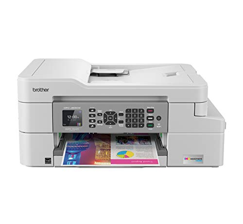 Brother MFC-J805DW INKvestmentTank Color Inkjet All-in-One Printer with Mobile Device and Duplex Printing with Up To 1-Year of Ink In-box, White, one size, Amazon Dash Replenishment Ready
