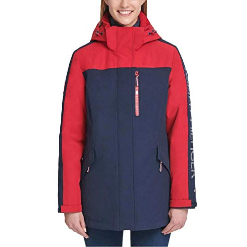 Tommy Hilfiger Womens Winter Cold Weather Basic Coat Red L