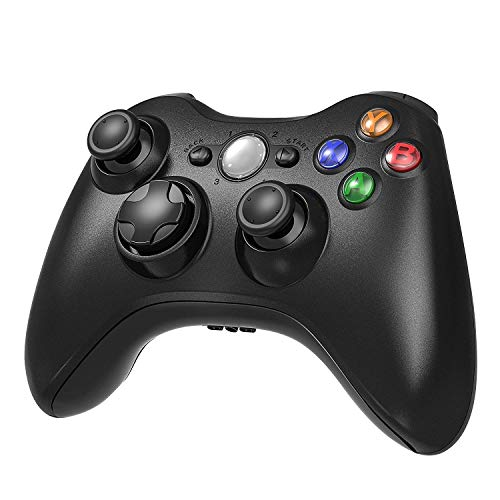 YCCSKY Xbox 360 Wireless Controller, 2.4GHZ Xbox Game Controller Wireless Remote 360 Controller Gamepad Joystick for Microsoft Xbox 360 Slim and PC with Windows 7/8/10 (NOT for Xbox ONE), Black