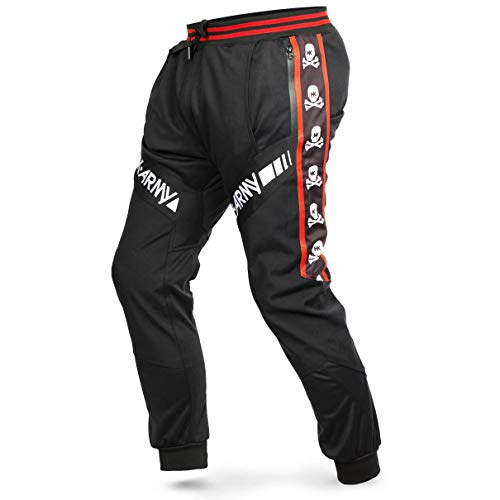 HK Army Paintball Pants - TRK Joggers (Medium, HK Skull Red)