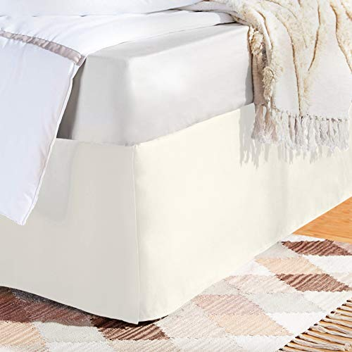 AmazonBasics Pleated Bed Skirt - Twin, Off White