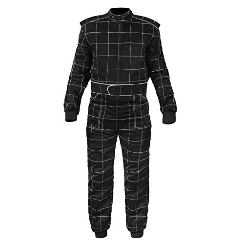 Sparx Sports Go Kart Racing Cart Karting Suit Black (XL)