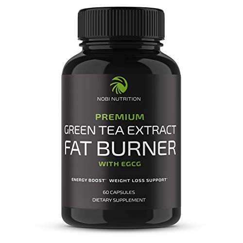 Nobi Nutrition Green Tea Fat Burner - Green Tea Extract Supplement with EGCG - Diet Pills, Appetite Suppressant, Metabolism & Thermogenesis Booster - Healthy Weight Loss for Women & Men