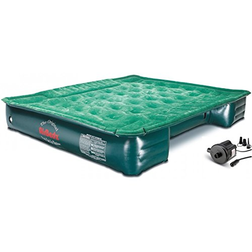 Pittman Outdoors AirBedz Lite PPI PV202C Full Size, Short 6'-6.5' Truck Bed Air Mattress with DC Corded Pump (76'x63'x12' Inflated),Green,Full Size Beds
