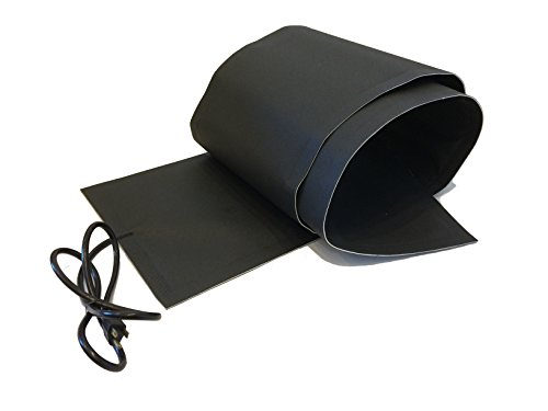 RHS Snow Melting System, roof and valley snow melting mats, Sizes 8' feet x 13' inches, Color black, UL components, 8 ft. mat melts 2' inches of snow per hour, buy factory direct, (8' ft. x 13' in.)
