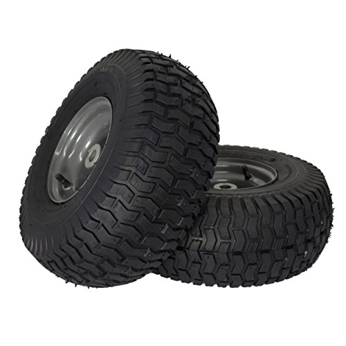 MARASTAR 21446-2PK 15x6.00-6' Front Tire Assembly Replacement-Craftsman Mower, Pack of 2
