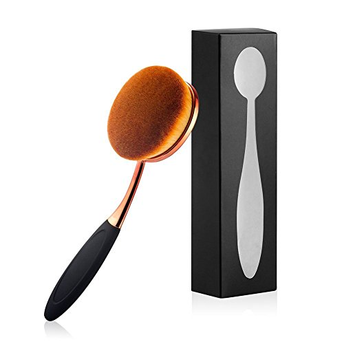 Yoseng Oval Foundation Brush Large Toothbrush makeup brushes Fast Flawless Application Liquid Cream Powder Foundation