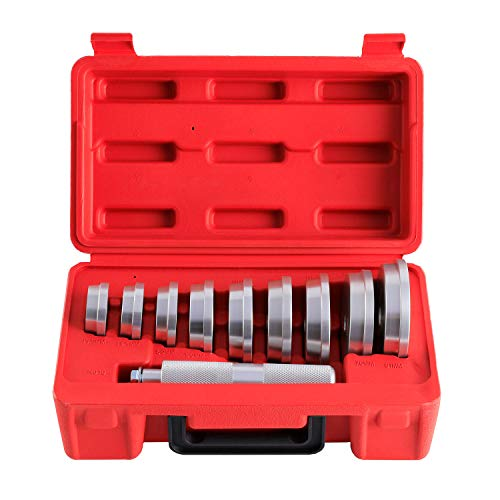 Orion Motor Tech 10pcs Bearing Race and Seal Bushing Driver Install Set 9 Discs Collar Axle Housing with Carrying Case Master/Universal Aluminum Bush Drive Seal Kit for Automotive Wheel Bearings