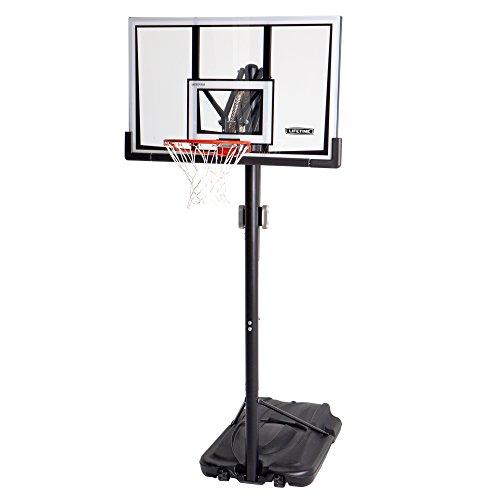 Lifetime 90061 Portable Basketball System, 52 Inch Shatterproof Backboard,Black