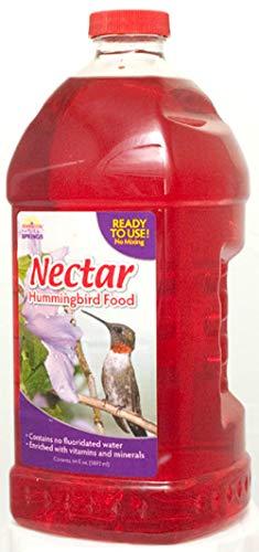 Natural Springs 100080659 Hummingbird Nectar Ready to Use 64oz, 64 oz, Brown/A