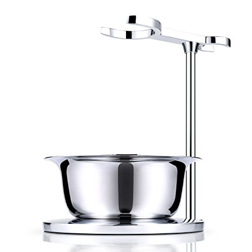 Miusco Shaving Razor & Brush Stand with Soap Bowl Set, Compatible with Manual Razor, Gillette Razor and Most Other Razors