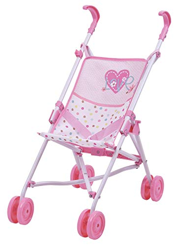 Hauck Love Heart Doll Umbrella Stroller D81023 - Kids Ages 3 and Up - Makes a Great Gift to Carry Baby Doll or a Favorite-Stuffed Animal Friend, Toy, Medium