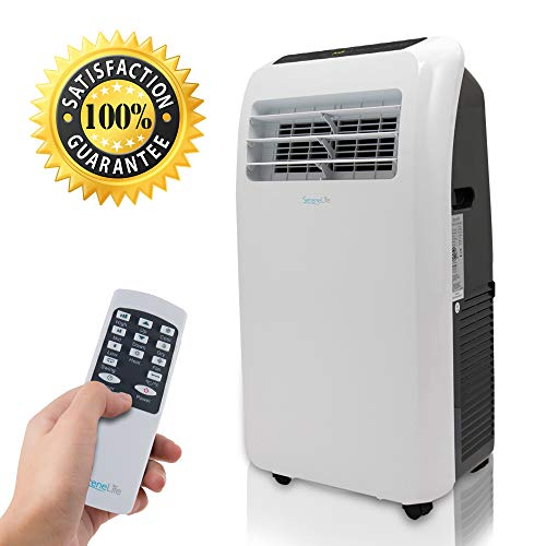 SereneLife SLACHT128 12,000 BTU + 12,000 BTU Heater Portable 4-in-1 Air Conditioner for Rooms Up to 450 Sq. Ft