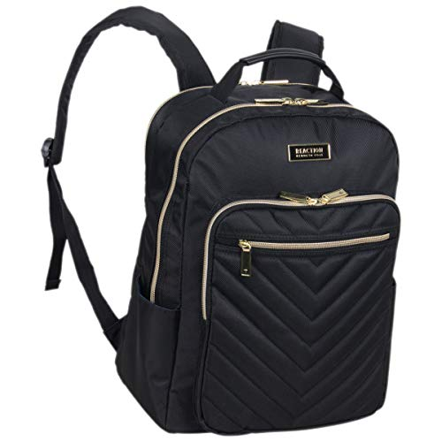 Kenneth Cole Reaction Women's Chelsea Chevron Quilted 15-Inch Laptop & Tablet Fashion Travel Backpack, Black, One Size