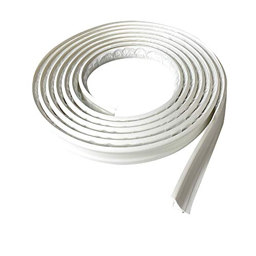 Instatrim 3/4 Inch (Covers 3/8' Gap) Flexible, Self-Adhesive, Caulk and Trim Strips for Floors, Ceilings, Countertops and More (White, 10ft Long, 1 Pack)