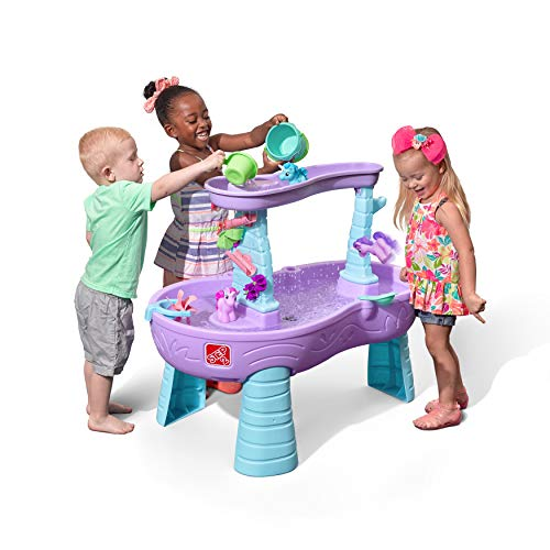 Step2 Rain Showers & Unicorns Water Table | Kids Purple Water Play Table with 13-Pc Unicorn Accessory Set