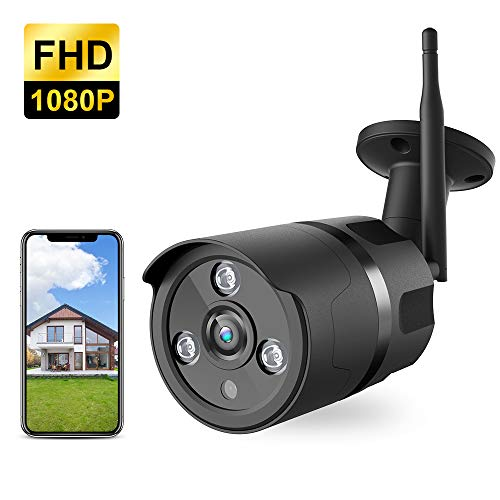 Outdoor Camera Wireless - 1080P WiFi Outdoor Security Camera, FHD Night Vision, A.I. Motion Detection, Instant Alert via Phone, 2-Way Audio, Live Video Zooms Function, Cloud Storage/Micro SD Card
