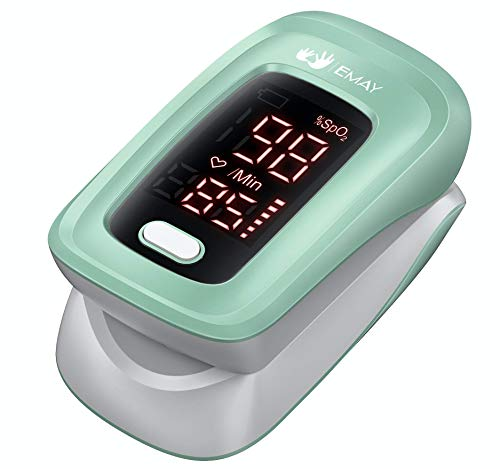EMAY Fingertip Oxygen Monitor | Blood Oxygen Saturation Monitor with Heart Rate Display