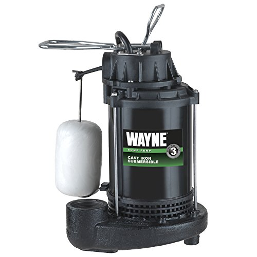 WAYNE CDU790 1/3 HP Submersible Cast Iron and Steel Sump Pump With Integrated Vertical Float Switch