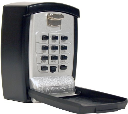 KeyGuard SL-590 Punch Button Key Storage Wall Mount Lock Box, Black Finish