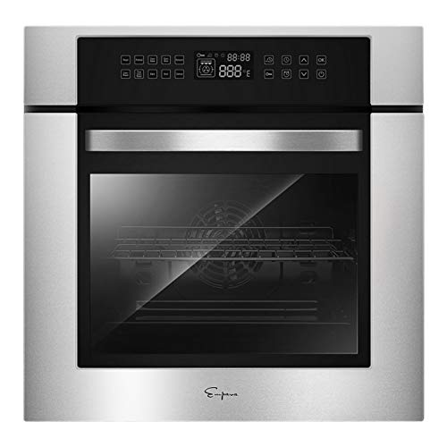 Empava 24' 10 Cooking Functions W/ Rotisserie Electric LED Digital Display Touch Control Built-in Convection Single Wall Oven EMPV-24WOC02