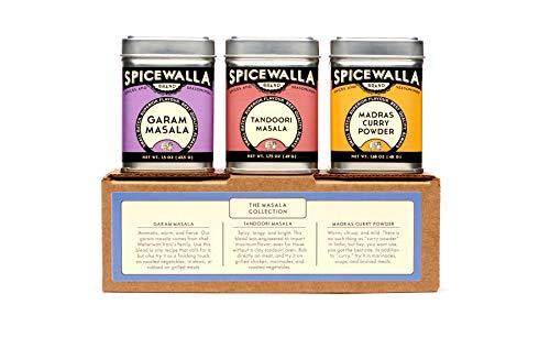 Spicewalla Indian Masala Spice Collection 3 Pack | Garam Masala, Tandoori Masala, Madras Curry Powder | Non-GMO, No MSG, Gluten Free