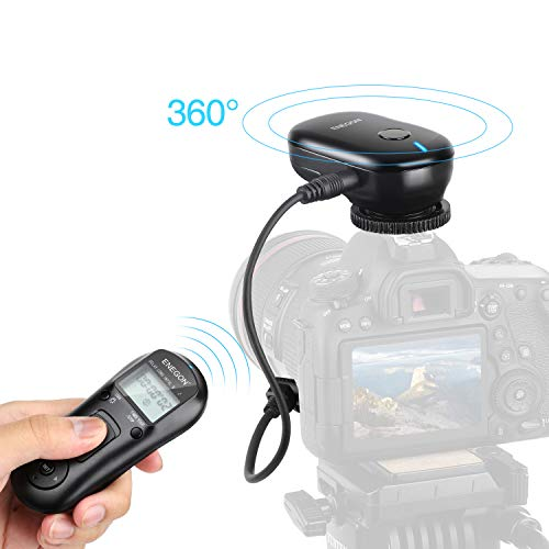 ENEGON Wireless Remote Shutter Release Control Timer with Cord for Canon EOS Rebel T6 T7 80D 70D 60D 60Da 77D T7i T6i T6s SL2 SL1 T5 T3 T5i T4i T3i T2i EOS RP R M6 M5 and More Canon Cameras
