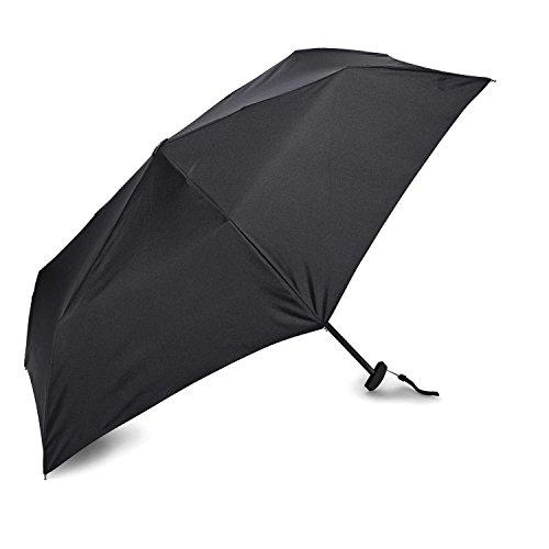 Samsonite Manual Compact Flat Umbrella, Black, One Size