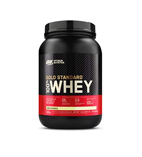 Optimum Nutrition Gold Standard 100% Whey Protein Powder, Unflavored, 2 Pound (Packaging May Vary)