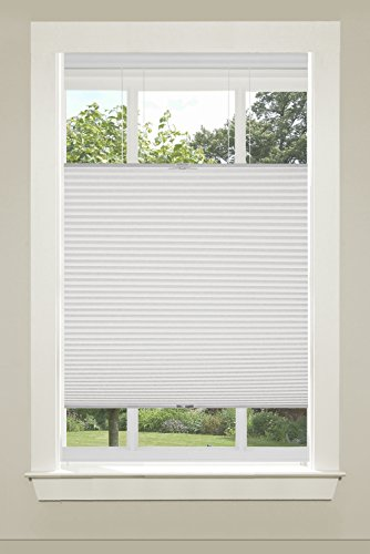 Achim Home Furnishings CSTD35WH06 Top-Down Cordless Honeycomb Cellular Pleated Shade, 35 by 64', White